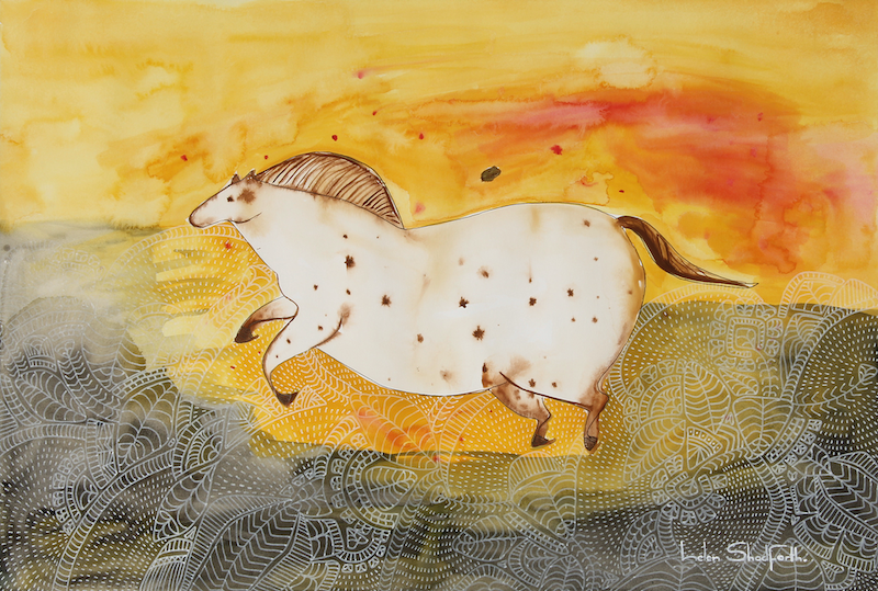(CreativeWork) Lascaux Dreams by Helen Shadforth. Mixed Media. Shop online at Bluethumb.