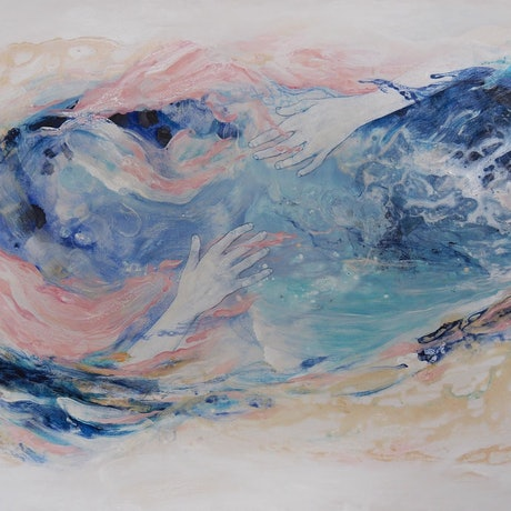 (CreativeWork) The Calling by Lucy Wood. Acrylic Paint. Shop online at Bluethumb.