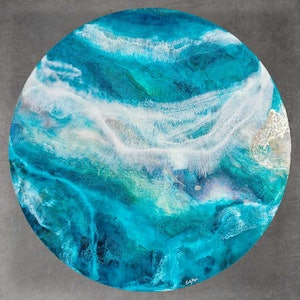 (CreativeWork) Sky Rise by Emiley Rose. resin. Shop online at Bluethumb.
