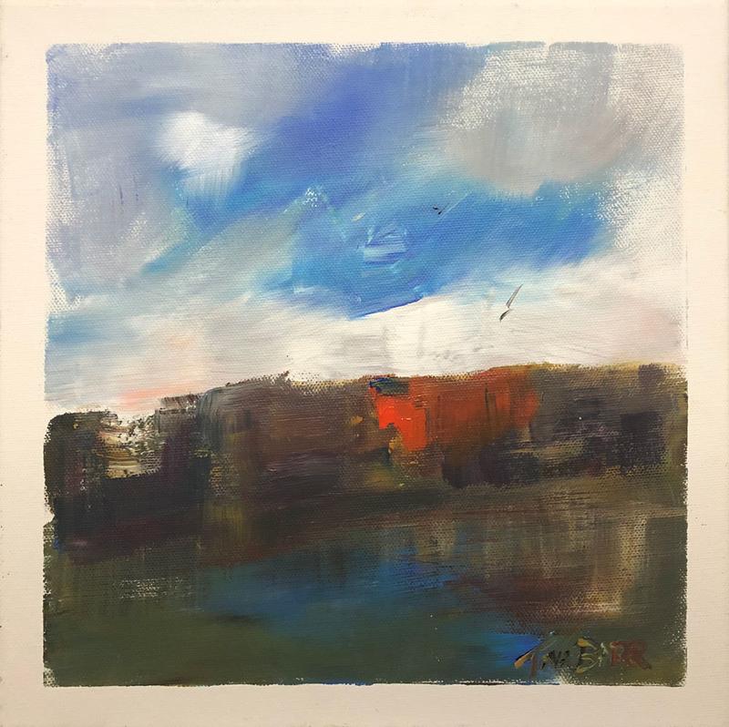 (CreativeWork) Summer River - riverscape by Tina Barr. Acrylic Paint. Shop online at Bluethumb.