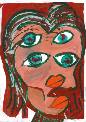 (CreativeWork) 4 eyes  by Shea Peterson. Acrylic Paint. Shop online at Bluethumb.
