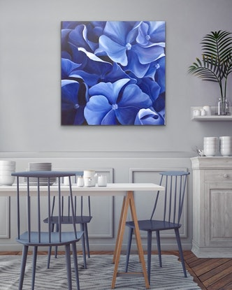 (CreativeWork) All the Blues by Selenia Costanzo. Acrylic Paint. Shop online at Bluethumb.