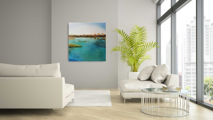 (CreativeWork) Reflection  by Rose Knight. Oil Paint. Shop online at Bluethumb.