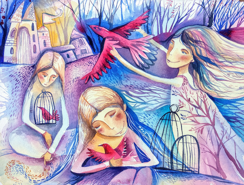 (CreativeWork) When you have a dream.... by Irina Iris. Watercolour Paint. Shop online at Bluethumb.