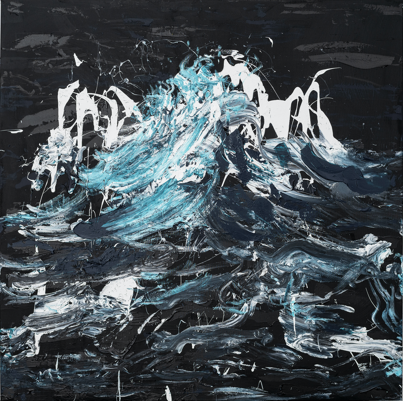 (CreativeWork) Storm  2019 by Annette Spinks. Acrylic Paint. Shop online at Bluethumb.