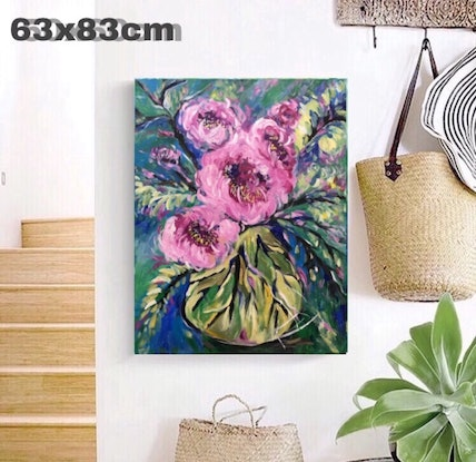(CreativeWork) oul painting by Rain wu. Acrylic Paint. Shop online at Bluethumb.