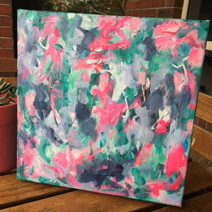 (CreativeWork) Emerald Dreams by Anna Pontikis. Acrylic Paint. Shop online at Bluethumb.