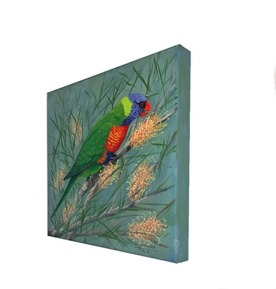 (CreativeWork) Lorikeet No.2 by Wendy A. Greenwood. Acrylic Paint. Shop online at Bluethumb.