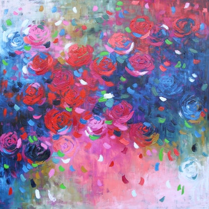 (CreativeWork) Pure Love 3 by Belinda Nadwie. Oil Paint. Shop online at Bluethumb.