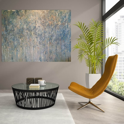 (CreativeWork) Land That Time Forgot by Andrea Edwards. Acrylic Paint. Shop online at Bluethumb.