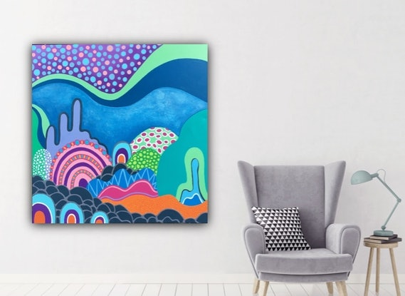 (CreativeWork) Under the Sea  by CJ Dixon. Acrylic Paint. Shop online at Bluethumb.
