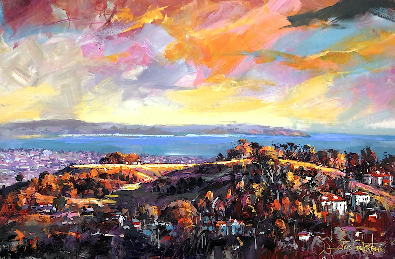 (CreativeWork) Mount Hobson Auckland  by Jos Coufreur. Acrylic Paint. Shop online at Bluethumb.