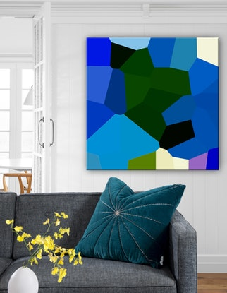 (CreativeWork) Ultramarine by Audrey Gunn. Acrylic Paint. Shop online at Bluethumb.