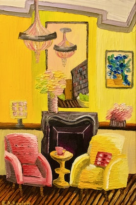 (CreativeWork) The Cadmium Room  by Elisabeth Howlett. Oil Paint. Shop online at Bluethumb.