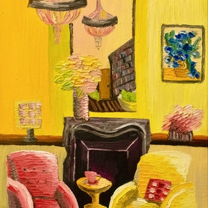 (CreativeWork) The Cadmium Room  by Elisabeth Howlett. oil-painting. Shop online at Bluethumb.