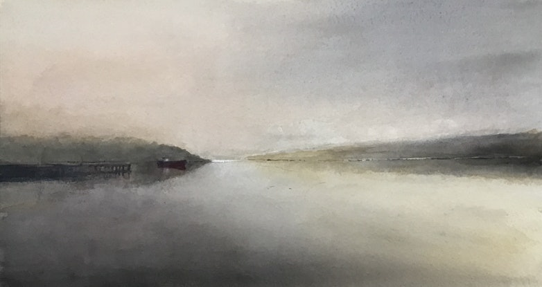 (CreativeWork) Tranquillity  by Geoff Stanistreet. Watercolour Paint. Shop online at Bluethumb.