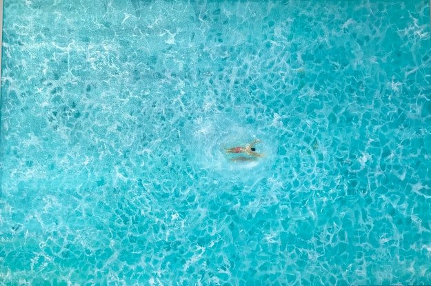 (CreativeWork) Out Swimming by Pinki Das. Oil Paint. Shop online at Bluethumb.