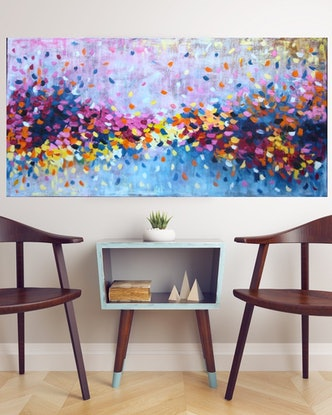 (CreativeWork) Ultimate Expression of Love by Belinda Nadwie. Oil Paint. Shop online at Bluethumb.