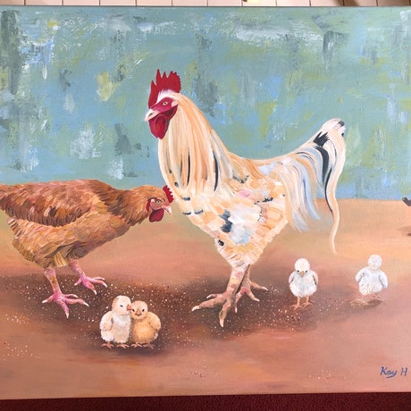 (CreativeWork) Party Time by Kay H Bowman. Acrylic Paint. Shop online at Bluethumb.
