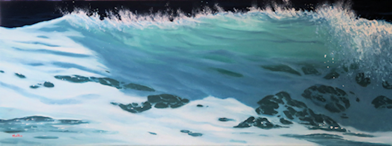 (CreativeWork) Turbulence #38 by Wayne Malkin. Oil Paint. Shop online at Bluethumb.