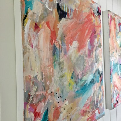 (CreativeWork) Knickerbocker Glory 1 by Nicole Fearfield. Mixed Media. Shop online at Bluethumb.