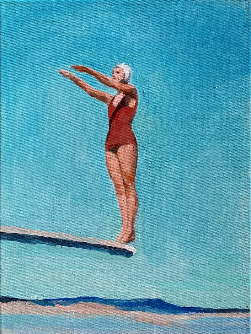 (CreativeWork) HIGH DIVER by TeMoana .. Acrylic Paint. Shop online at Bluethumb.
