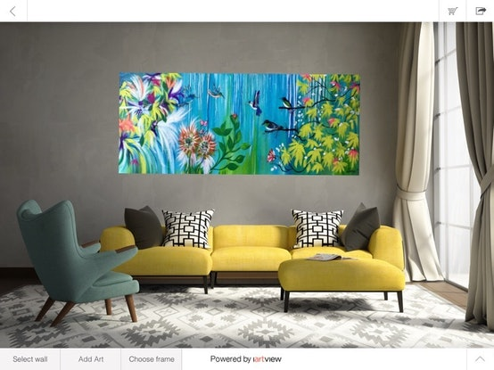 (CreativeWork) Spring Has Sprung by Carol Lindsay. Acrylic Paint. Shop online at Bluethumb.