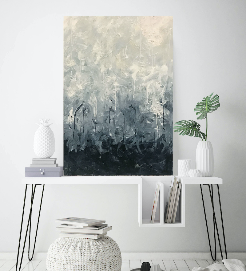 (CreativeWork) Disquiet by Melanie Crawford. Acrylic Paint. Shop online at Bluethumb.