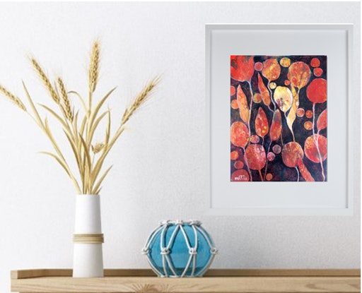 (CreativeWork) All my Happy Thoughts by Marta Blaszak-Just. Acrylic Paint. Shop online at Bluethumb.
