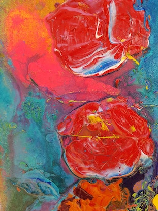 (CreativeWork) Crushing Hard by Michelle Murphy. Acrylic Paint. Shop online at Bluethumb.