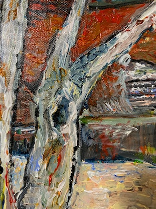 (CreativeWork) Impressions of Ormiston Gorge by Roslyn Elms. Acrylic Paint. Shop online at Bluethumb.