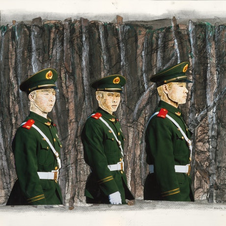 (CreativeWork) Marching Guards  Ed. 2 of 3 by Narelle Cridland. Photograph. Shop online at Bluethumb.