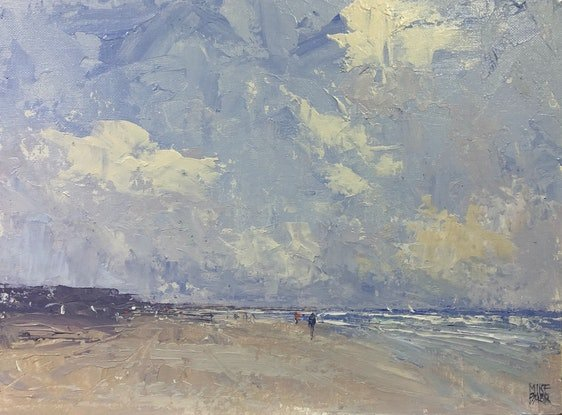 (CreativeWork) Goolwa Beach - original knife painting by Mike Barr. Acrylic Paint. Shop online at Bluethumb.