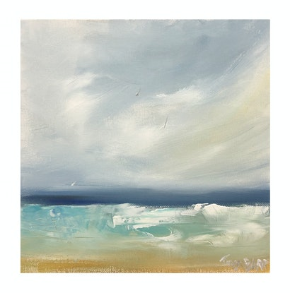 (CreativeWork) Surf's Up! Seascape by Tina Barr. Acrylic Paint. Shop online at Bluethumb.