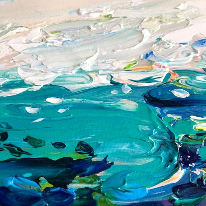 (CreativeWork) Coastal no.49 by Tatiana Georgieva. Acrylic Paint. Shop online at Bluethumb.