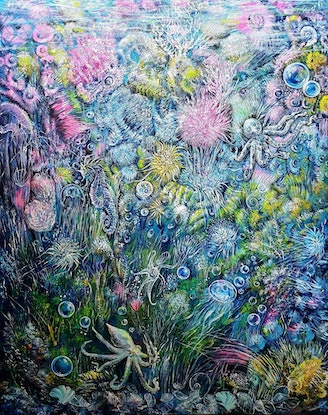 (CreativeWork) Underwater Life  by Natalia Graham. Acrylic Paint. Shop online at Bluethumb.