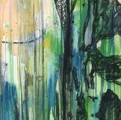 (CreativeWork) Gumtree by Simon Phillips. Mixed Media. Shop online at Bluethumb.