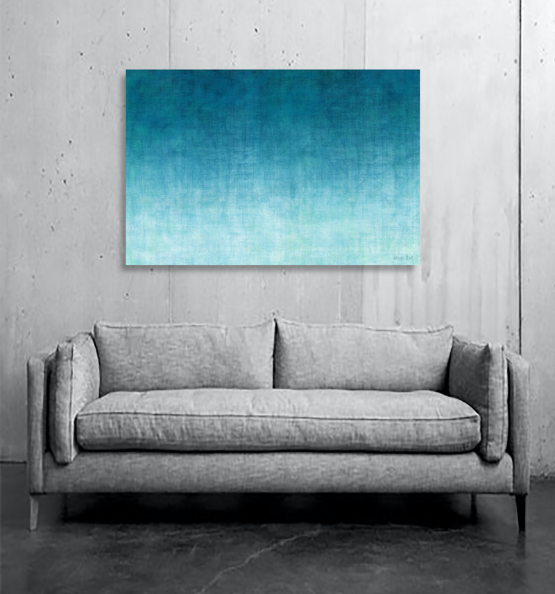 (CreativeWork) The Gradual Rising  mixed media painting on Canvas, Ready to hang by George Hall. Mixed Media. Shop online at Bluethumb.