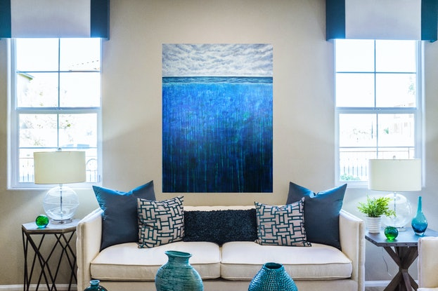 (CreativeWork) H20 Above & Below by Simon Phillips. Acrylic Paint. Shop online at Bluethumb.