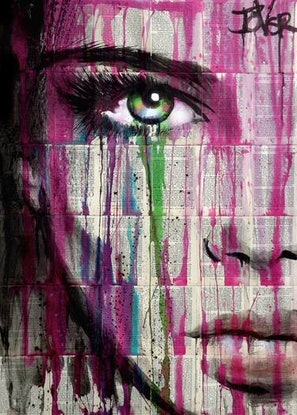 (CreativeWork) PURPLE DAYS by loui jover. Drawings. Shop online at Bluethumb.