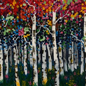 (CreativeWork) Birch 1 by Tom Roso. acrylic-painting. Shop online at Bluethumb.