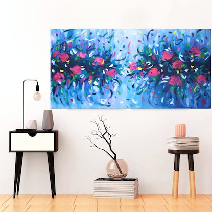 (CreativeWork) Sunday Mornings Together by Belinda Nadwie. Oil Paint. Shop online at Bluethumb.