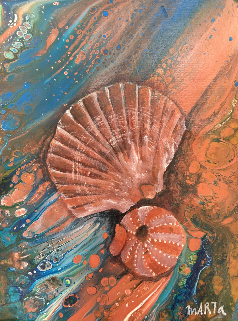(CreativeWork) Found in the Surf by Marta Blaszak-Just. Mixed Media. Shop online at Bluethumb.