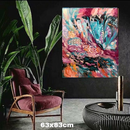 (CreativeWork) Abstract butterfly  by Rain wu. Acrylic Paint. Shop online at Bluethumb.