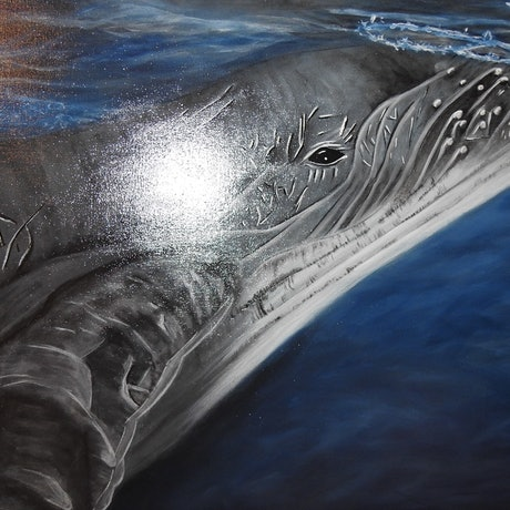 (CreativeWork) Great Southern Ocean - Humpie by Donna Parker. Acrylic Paint. Shop online at Bluethumb.