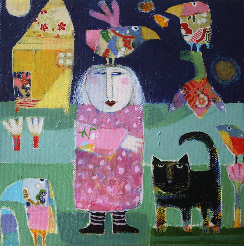 (CreativeWork) She's Been Op-Shopping Again by Christine Robinson. Mixed Media. Shop online at Bluethumb.
