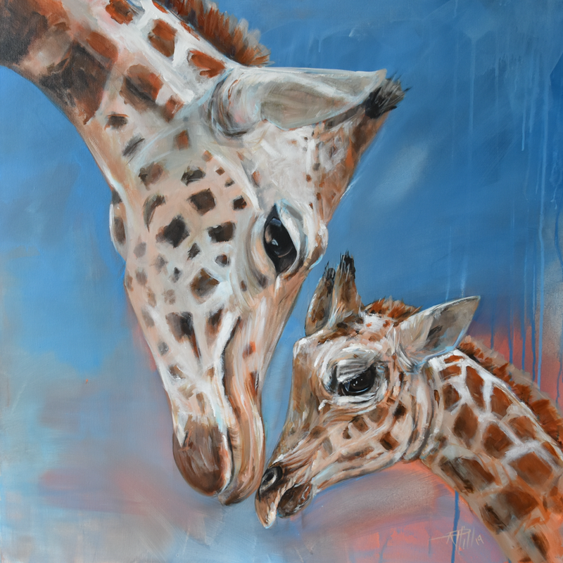 (CreativeWork) Unconditional Love by Rebecca Hill. Acrylic Paint. Shop online at Bluethumb.