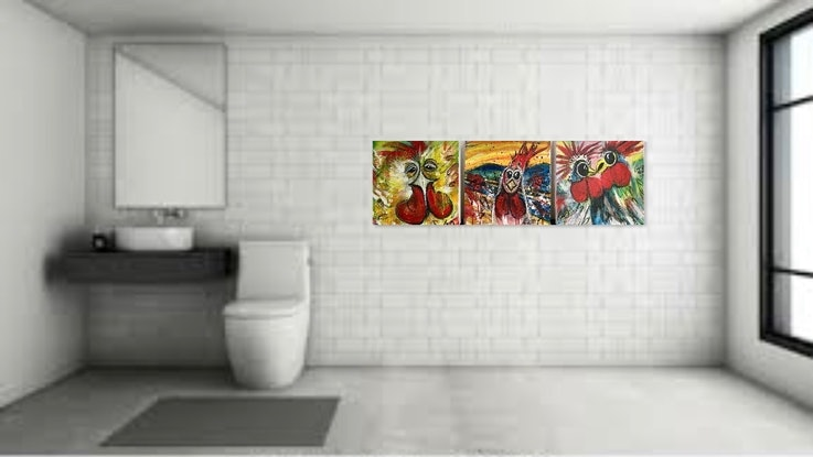 (CreativeWork) BUT (Triptych) by Louise Croese. #<Filter:0x00007fc19c661718>. Shop online at Bluethumb.