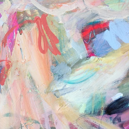 (CreativeWork) Knickerbocker Glory 2 by Nicole Fearfield. Mixed Media. Shop online at Bluethumb.