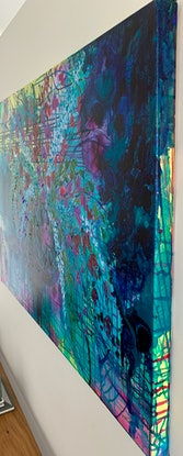 (CreativeWork) Sapphire's Sister by Tracy Stephenson. Acrylic Paint. Shop online at Bluethumb.